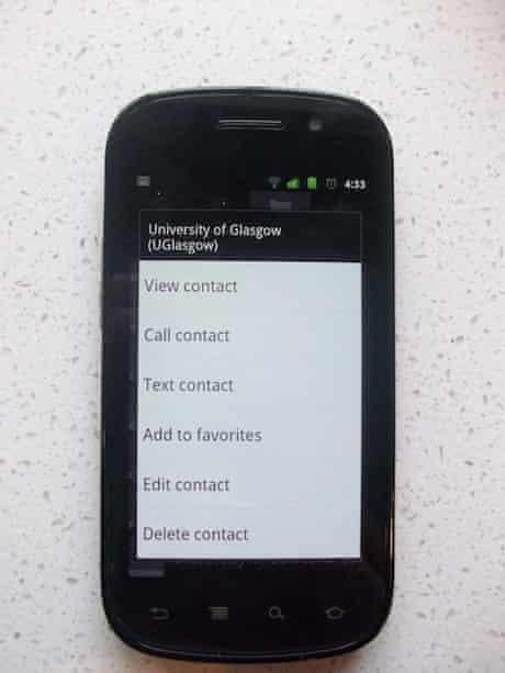 Press-and-hold on Google Nexus S