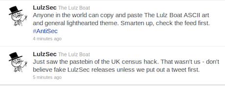 Hacking group LulzSec denies UK census hack | Technology