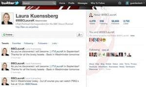 Laura Kuenssberg's Twitter page