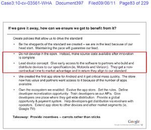 Google document on Android development
