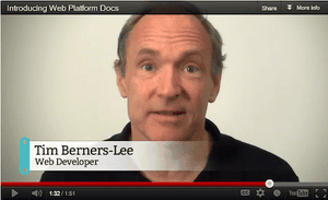 Tim Berners-Lee, 'web developer'