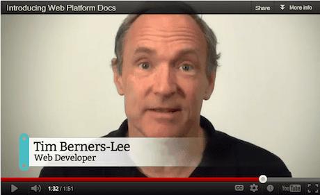 Tim Berners-Lee, 'web developer'