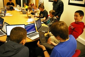 Participants at Coderdojo, Glasgow