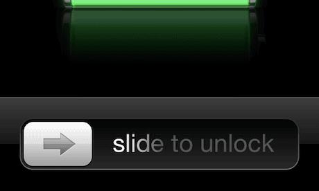 Apple iPhone slide to unlock