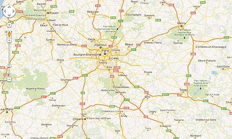 Google Fined In France For Making Its Maps Service Free - Paris france google maps