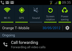SGS3: forwarding video calls