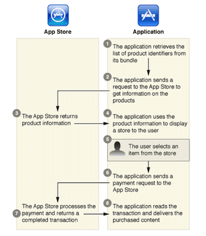 Apple in-app purchase system