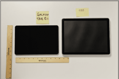 iPad '035' prototype v Samsung Galaxy