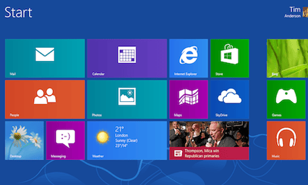 Windows 8 RTM Start