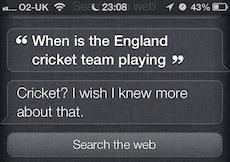 Siri can't do cricket