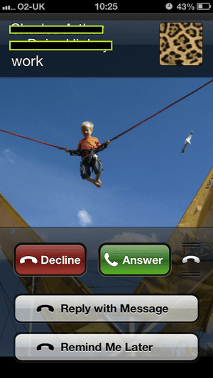 Rejecting a call on iOS6