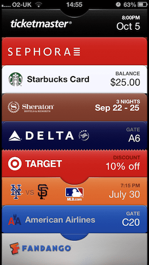Passbook on iOS 6: lots of vouchers