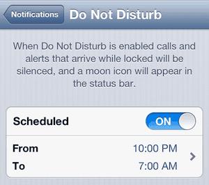 Apple Do Not Disturb