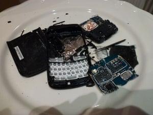 Carole Blake smashed BlackBerry
