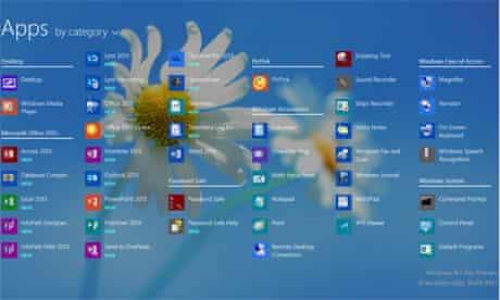 Microsoft 8.1 all apps desktop