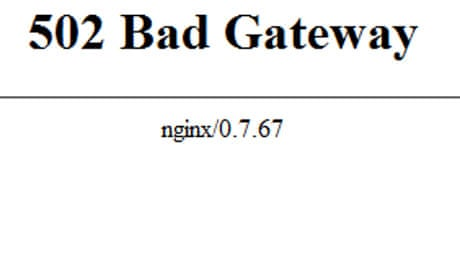502 Bad Gateway error: what to do when you can't get through to a