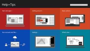 Windows 8.1: help screen