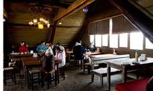 Mountain cafe at Uludag, Turkey