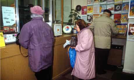 Elderly, post office