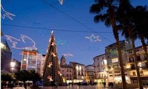 Christmas Tree Malaga City Centre Spain
