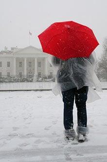 Tourist at the White House in Washington
