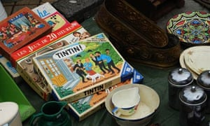 mixed collection of bric a brac at Lille Braderie France