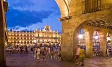 Plaza Mayor in Salamanca at night