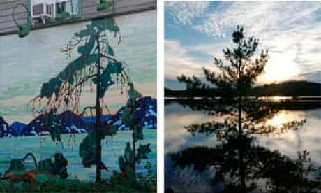 cauchon lake and painting