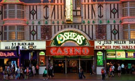 Play craps at O Sheas casino Las Vegas.