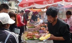 Street food in Shangri-la