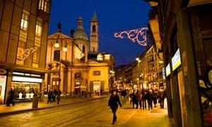 Via Torino at Christmas