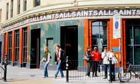 All Saints shop in London's Spitalfields.