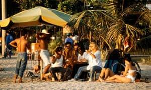 beach life in Indonesia
