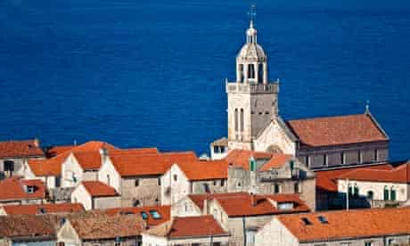 Korcula town with cathedra