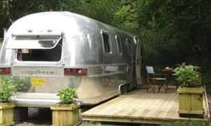 Airstream caravan, Brecon Beacons