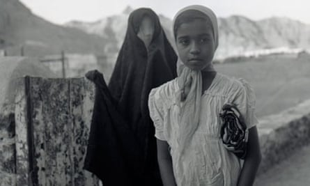 Two young Arab girls in 1950s Yemen.