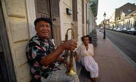Trumpet player on Bourbon St
