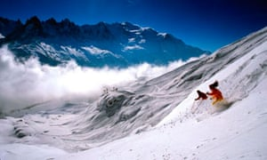 skiing off-piste at Chamonix