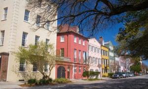 Shops in Rainbow Row, Charleston.