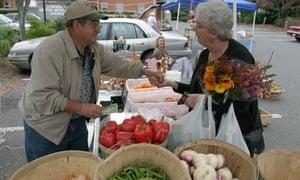 Farmer's market in Lewisburg, West Virginia