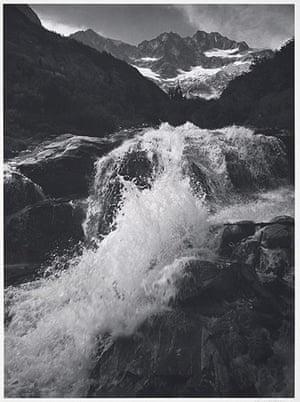 Ansel Adams: Ansel Adams: Waterfall, Northern Cascades, Washington