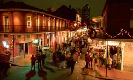 Christmas on Bourbon St, New Orleans