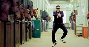Psy in the Gangnam-style video