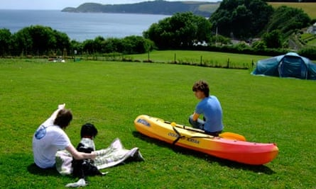 Broadmeadow House campsite, St Austell, Cornwall
