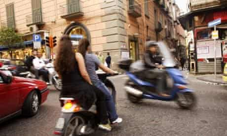 Scooters in Naples, Italy