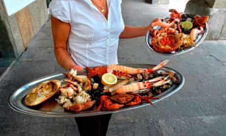Shellfish supper,  in LA CORUNA