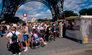 Wheelchair users at the Eiffel Tower