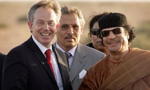 Tony Blair with Colonel Gadaffi in 2007