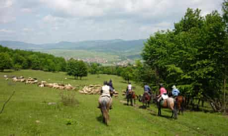 Beautiful horseriding country in central Romania