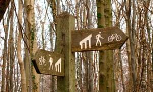 Taff Trail signpost, Wales